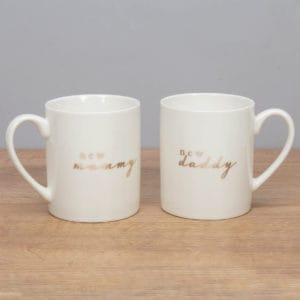 new mummy and daddy bone china cups