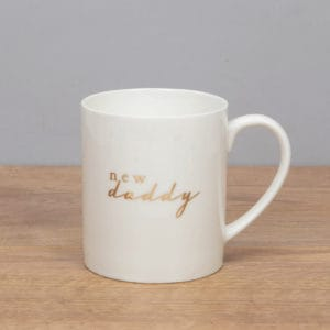 new daddy bone china mug
