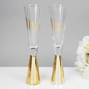 mr and mrs prosecco flutes