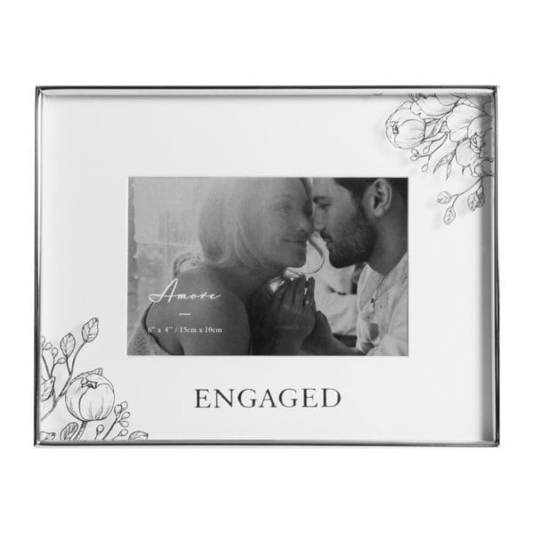 Engaged Floral Photo Photo Frame