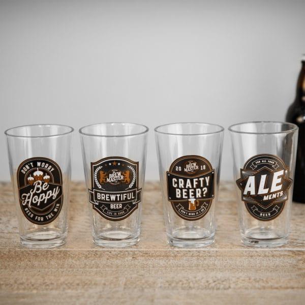 set of 3 craft beer glasses
