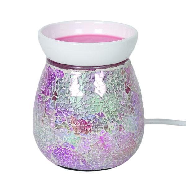electric wax melt burner pink crackle