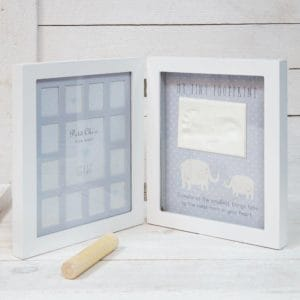 baby frame 1st year with clay inprint