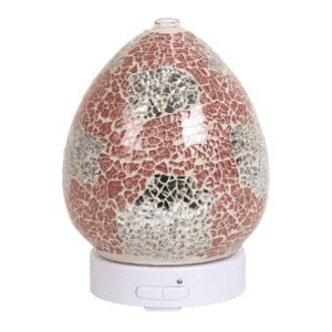 coral and silver ultrasonic diffuser
