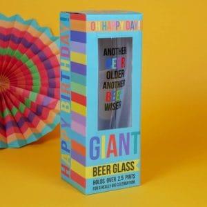 Giant pint glass
