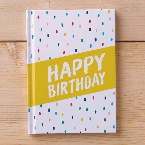 Happy Birthday Hardcover Gift Book