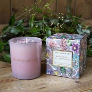 Irish Botanicals Lavender and Black Peppermint Candle