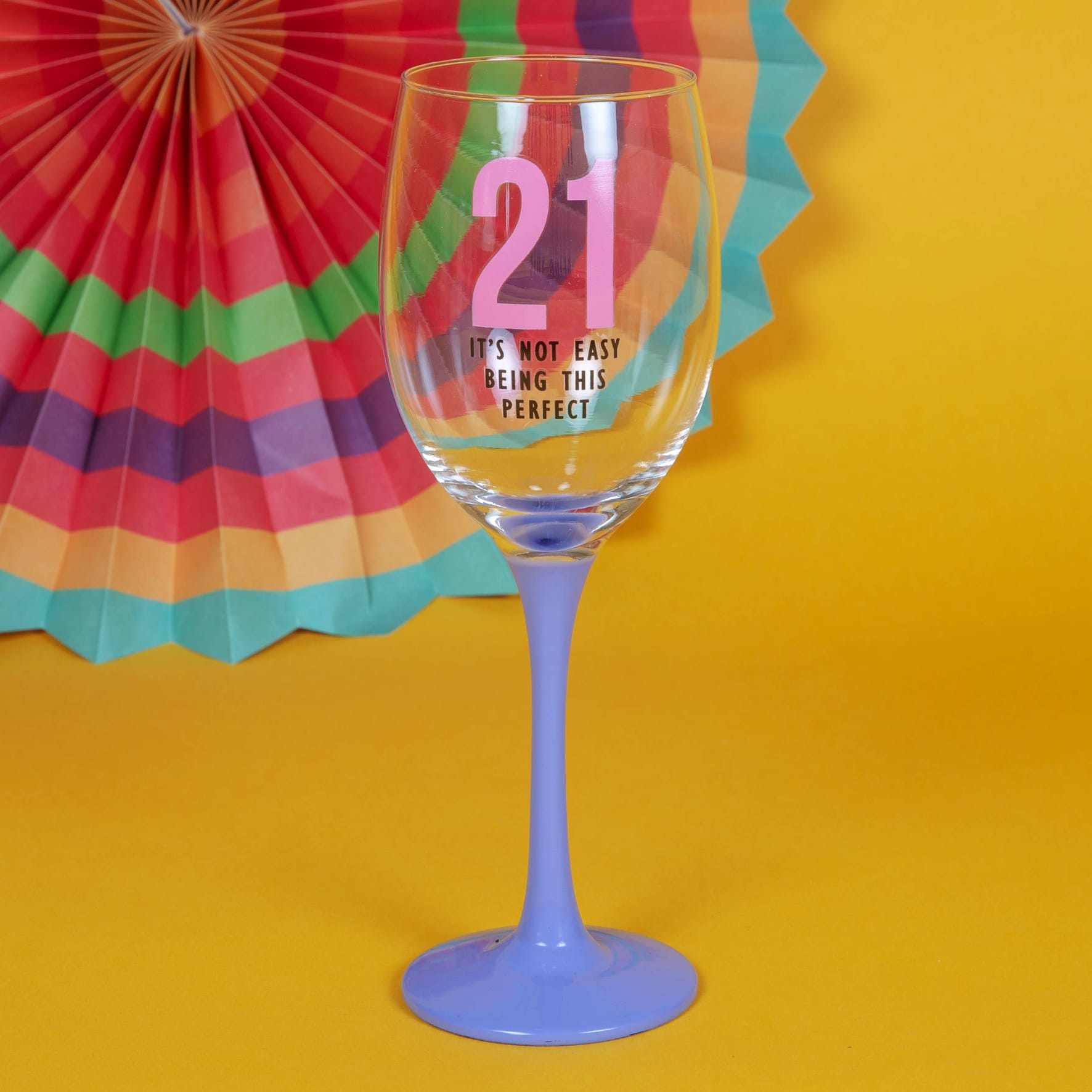 21st Wine Glass Not Easy Being Perfect