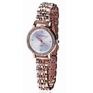 Newgrange Living Rose Gold Diamond Bezel Watch