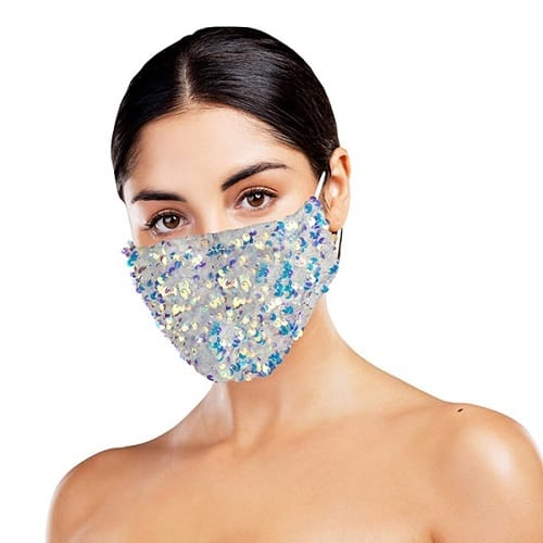 White-Sequin-Mask