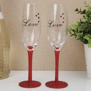 Set of 2 Love Champagne Flute