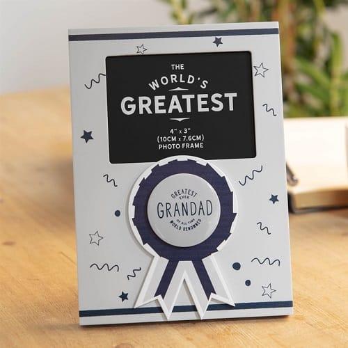 Greatest Grandad Rosette Photo Frame