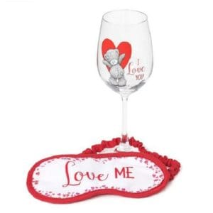 Me to You Wine Glass & Eye Mask Gift Set