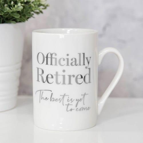 Officially Retired Bone China Mug