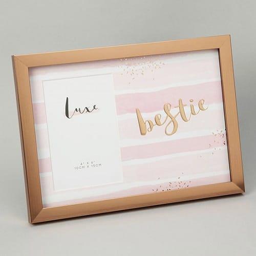 Rose Gold 'Bestie' Photo Frame