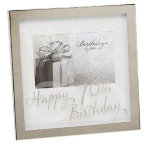70th Birthday Silverplated Box Frame