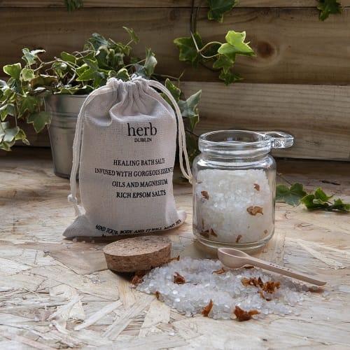 HERB Dublin Lavender and Rosemary Bathsalts Jar