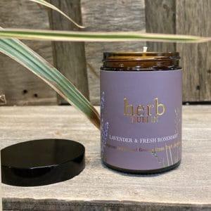 HERB Dublin Amber Jar Lavender and Rosemary