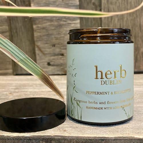 HERB Dublin Amber Jar Peppermint and Eucalyptus