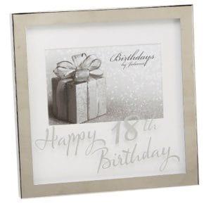 18th Birthday Silverplated Box Frame