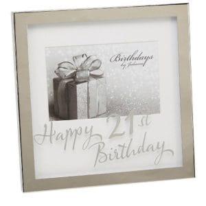 21st Birthday Silverplated Box Frame