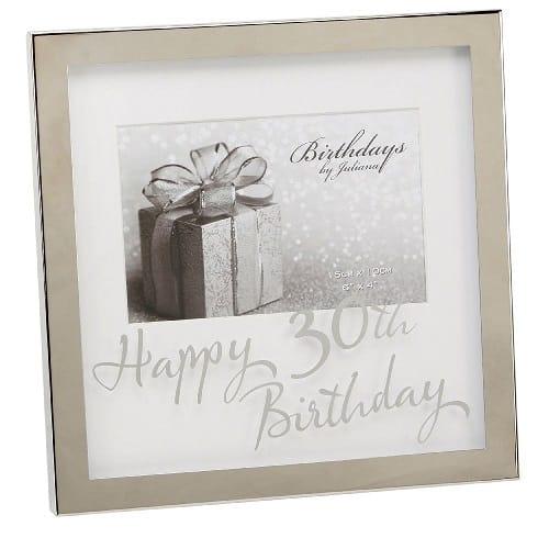 30th Birthday Silverplated Box Frame