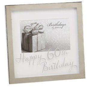 60th Birthday Silverplated Box Frame