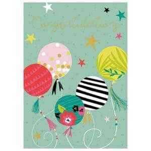 Congratulations Balloon Card