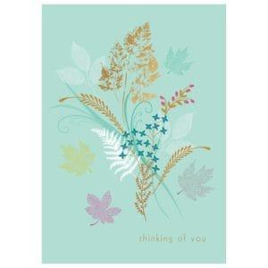 Sara Miller Thinking of You Leaf Design Card