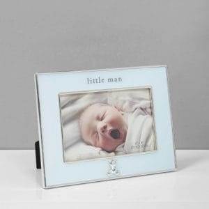 Silver Plated Blue Frame Little Man