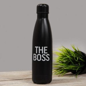 Double Lined Aluminum Drink Bottle - 'The Boss'