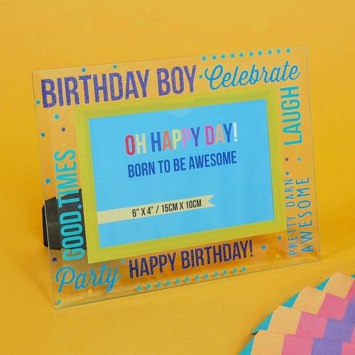 Birthday Boy Glass Photo Frame